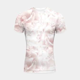 Miniatur Blush Rose Peonies Dream #1 #floral #decor #art Shortsleeve rashguard, Live Heroes