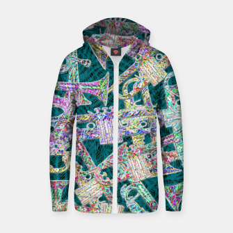 Thumbnail image of trumpet Zip up hoodie, Live Heroes