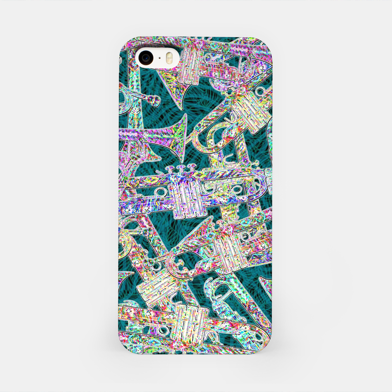 Image of trumpet iPhone Case - Live Heroes