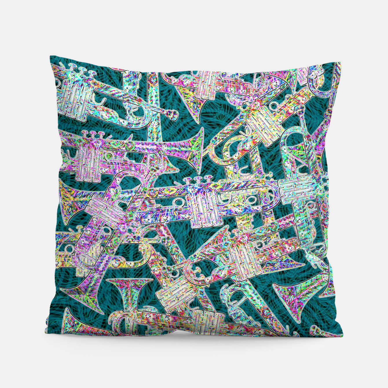Image of trumpet Pillow - Live Heroes