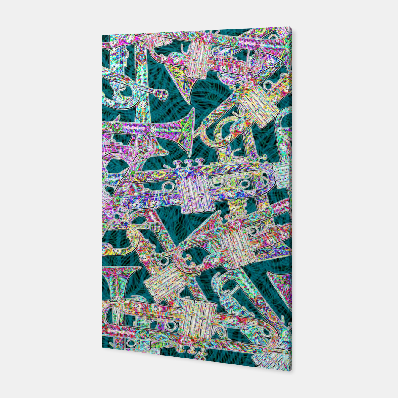 Image of trumpet Canvas - Live Heroes