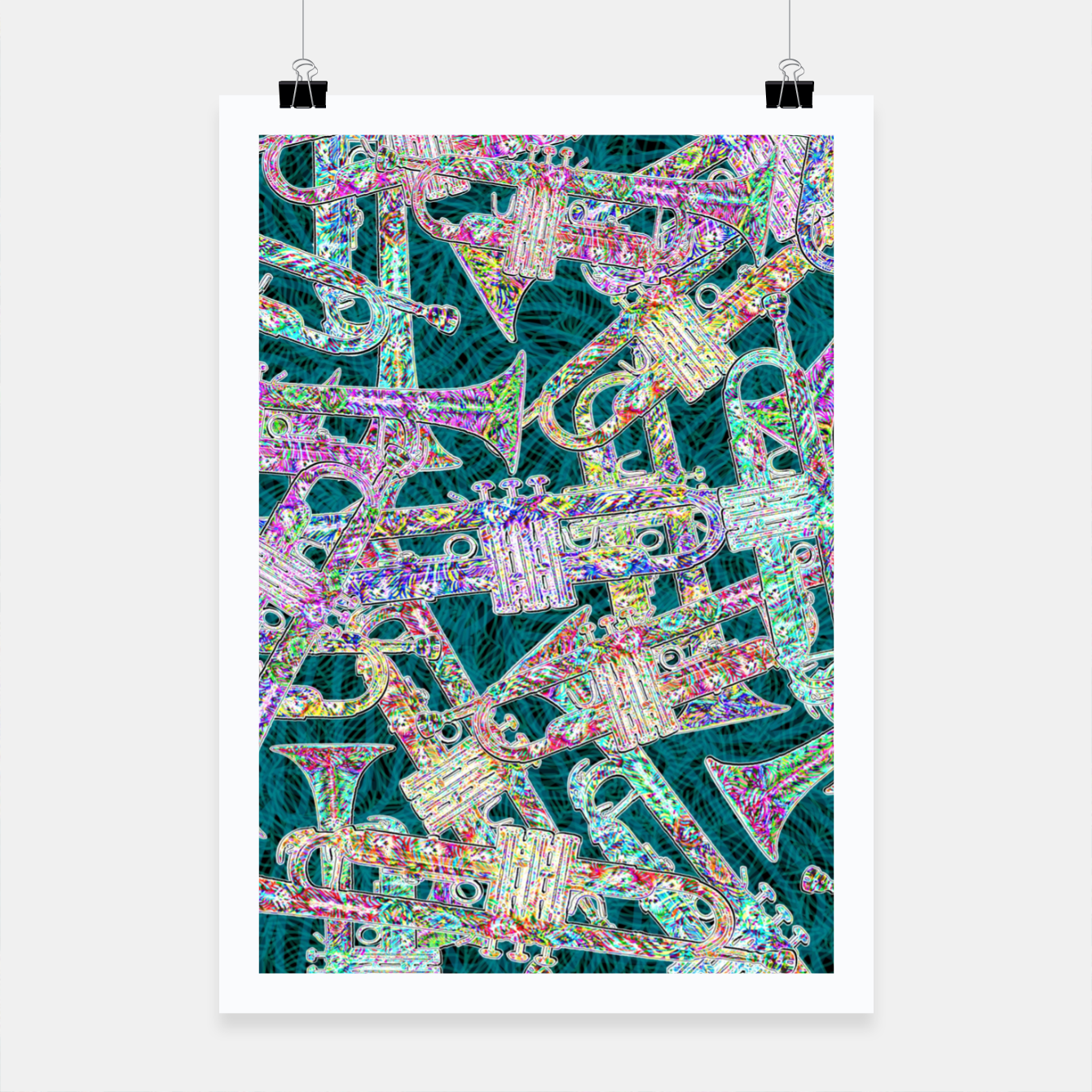 Image of trumpet Poster - Live Heroes