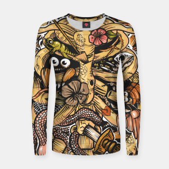 Thumbnail image of Doodle Bones flat Women sweater, Live Heroes