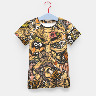 Thumbnail image of Doodle Bones flat Kid's t-shirt, Live Heroes