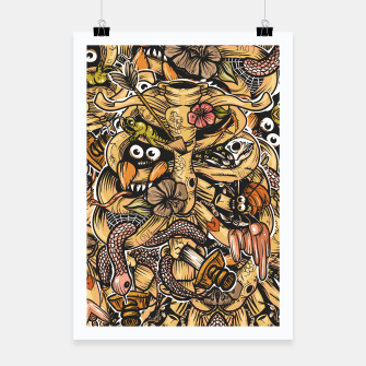 Thumbnail image of Doodle Bones flat Poster, Live Heroes