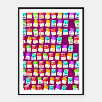 Thumbnail image of Love soup, Hate soup, empty soup Framed poster, Live Heroes