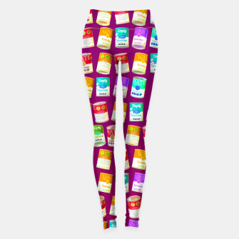 Thumbnail image of Love soup, Hate soup, empty soup Leggings, Live Heroes