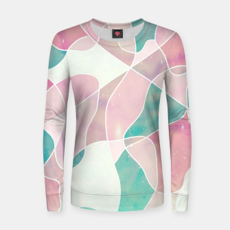 Thumbnail image of Pink and bluegreen geometric Women sweater, Live Heroes