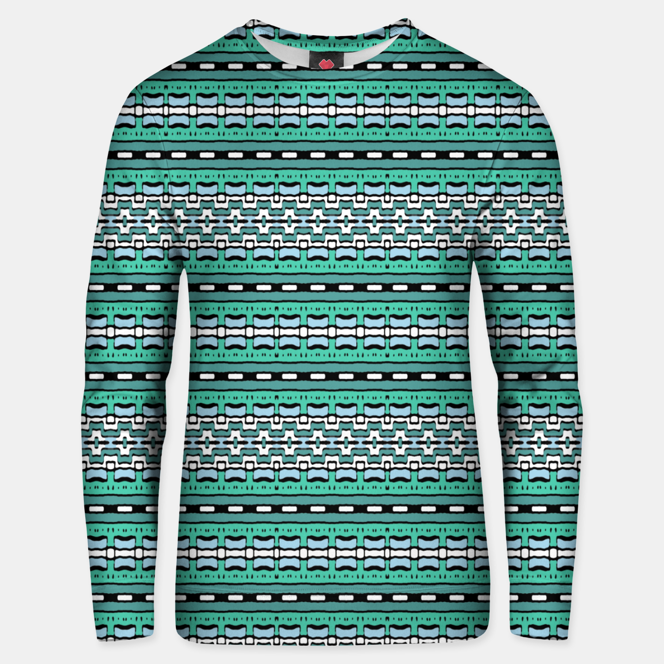 Image of Aztec Striped Colorful Print Pattern Unisex sweater - Live Heroes