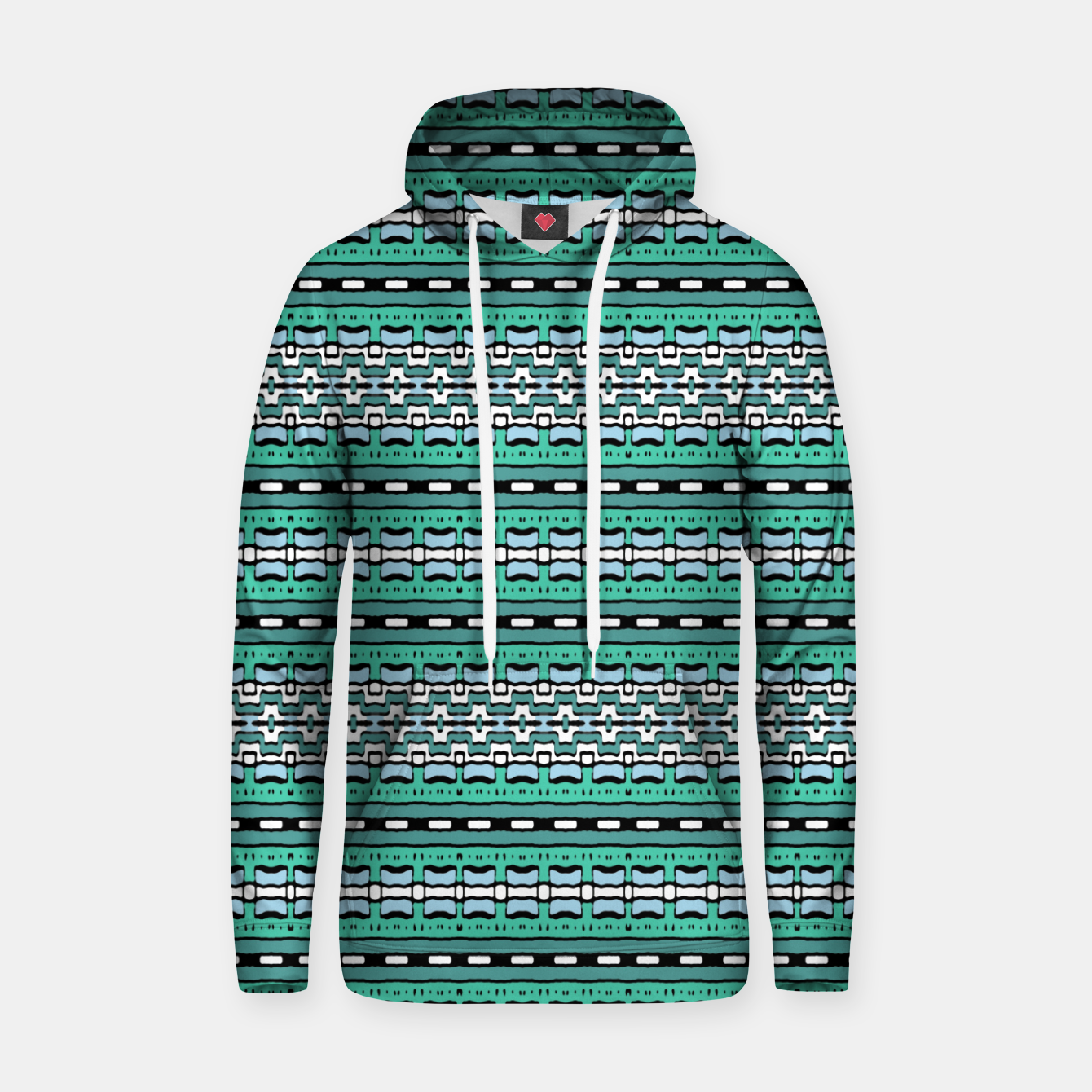 Image of Aztec Striped Colorful Print Pattern Hoodie - Live Heroes