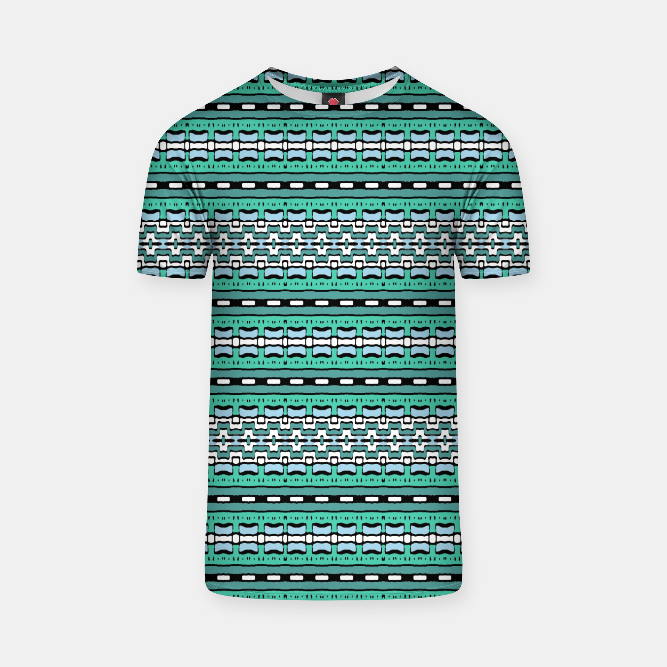 Image of Aztec Striped Colorful Print Pattern T-shirt - Live Heroes