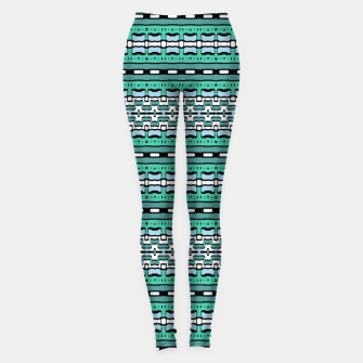 Aztec Striped Colorful Print Pattern Leggings thumbnail image