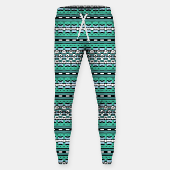 Aztec Striped Colorful Print Pattern Sweatpants thumbnail image