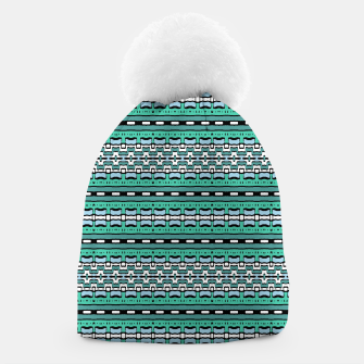 Aztec Striped Colorful Print Pattern Beanie thumbnail image