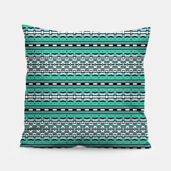 Aztec Striped Colorful Print Pattern Pillow thumbnail image
