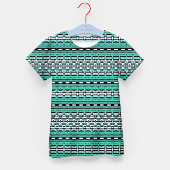 Aztec Striped Colorful Print Pattern Kid's t-shirt thumbnail image
