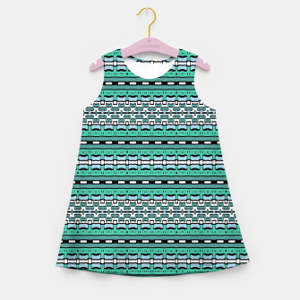 Aztec Striped Colorful Print Pattern Girl's summer dress thumbnail image