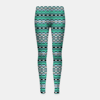 Aztec Striped Colorful Print Pattern Girl's leggings thumbnail image
