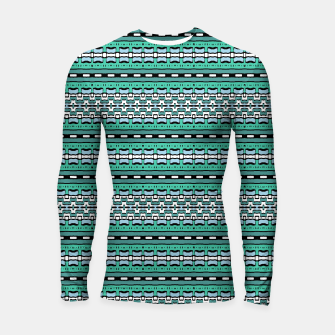 Aztec Striped Colorful Print Pattern Longsleeve rashguard  thumbnail image