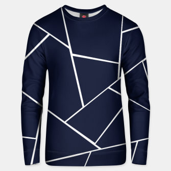 Navy Blue Geometric Glam #1 #geo #decor #art  Unisex sweatshirt thumbnail image