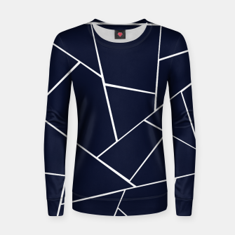Navy Blue Geometric Glam #1 #geo #decor #art  Frauen sweatshirt thumbnail image