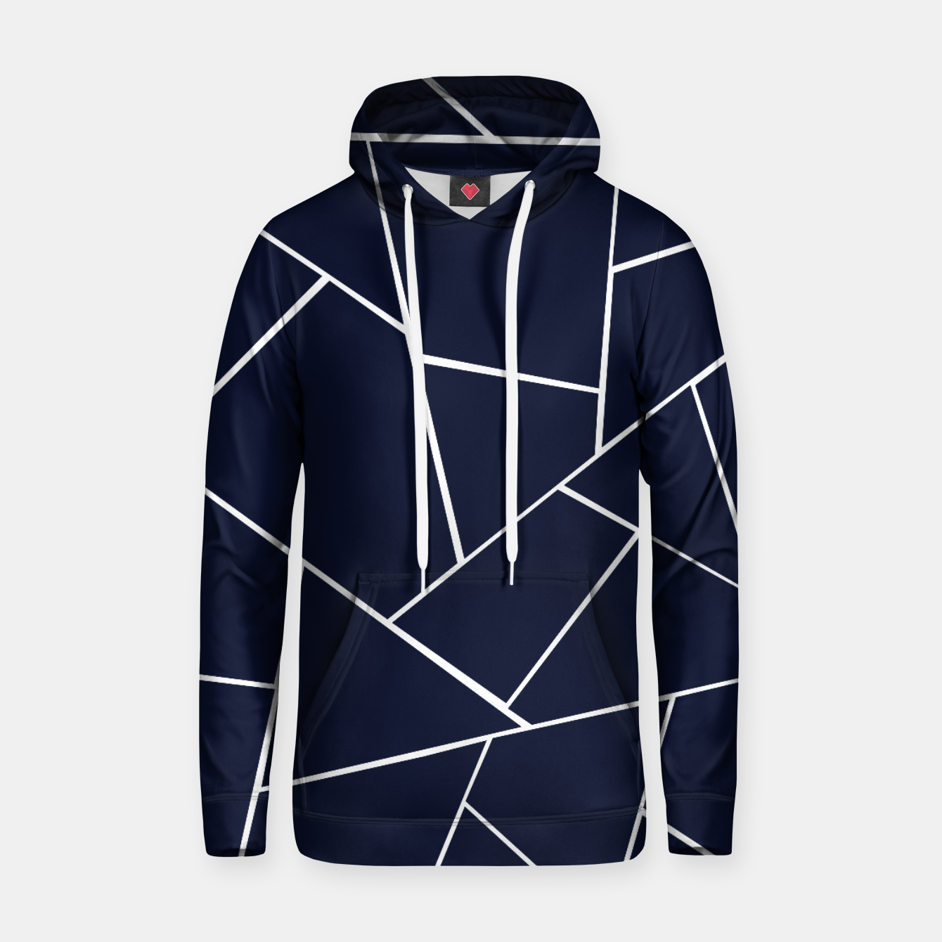 Image of Navy Blue Geometric Glam #1 #geo #decor #art  Kapuzenpullover - Live Heroes