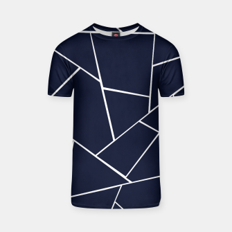 Thumbnail image of Navy Blue Geometric Glam #1 #geo #decor #art  T-Shirt, Live Heroes