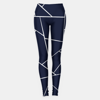 Thumbnail image of Navy Blue Geometric Glam #1 #geo #decor #art  Leggings, Live Heroes