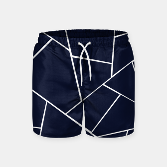 Thumbnail image of Navy Blue Geometric Glam #1 #geo #decor #art  Badeshorts, Live Heroes