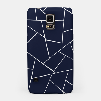 Thumbnail image of Navy Blue Geometric Glam #1 #geo #decor #art  Handyhülle für Samsung, Live Heroes