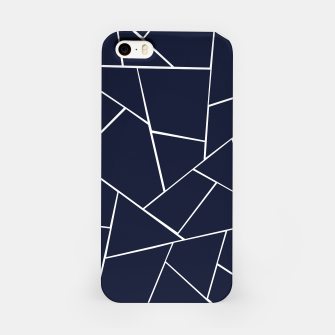 Navy Blue Geometric Glam #1 #geo #decor #art  iPhone-Hülle thumbnail image