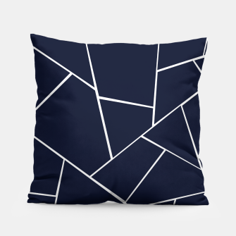 Thumbnail image of Navy Blue Geometric Glam #1 #geo #decor #art  Kissen, Live Heroes