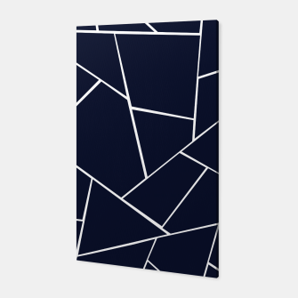 Navy Blue Geometric Glam #1 #geo #decor #art  Canvas thumbnail image