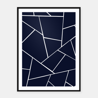 Navy Blue Geometric Glam #1 #geo #decor #art  Plakat mit rahmen thumbnail image