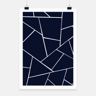 Thumbnail image of Navy Blue Geometric Glam #1 #geo #decor #art  Plakat, Live Heroes