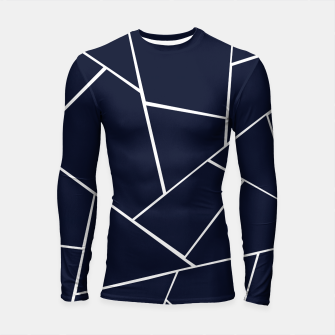 Navy Blue Geometric Glam #1 #geo #decor #art  Longsleeve rashguard thumbnail image