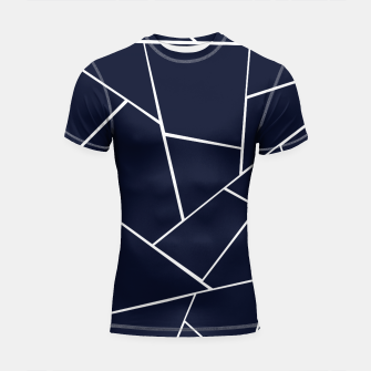 Thumbnail image of Navy Blue Geometric Glam #1 #geo #decor #art  Shortsleeve rashguard, Live Heroes