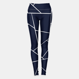 Navy Blue Geometric Glam #1 #geo #decor #art  Leggings thumbnail image