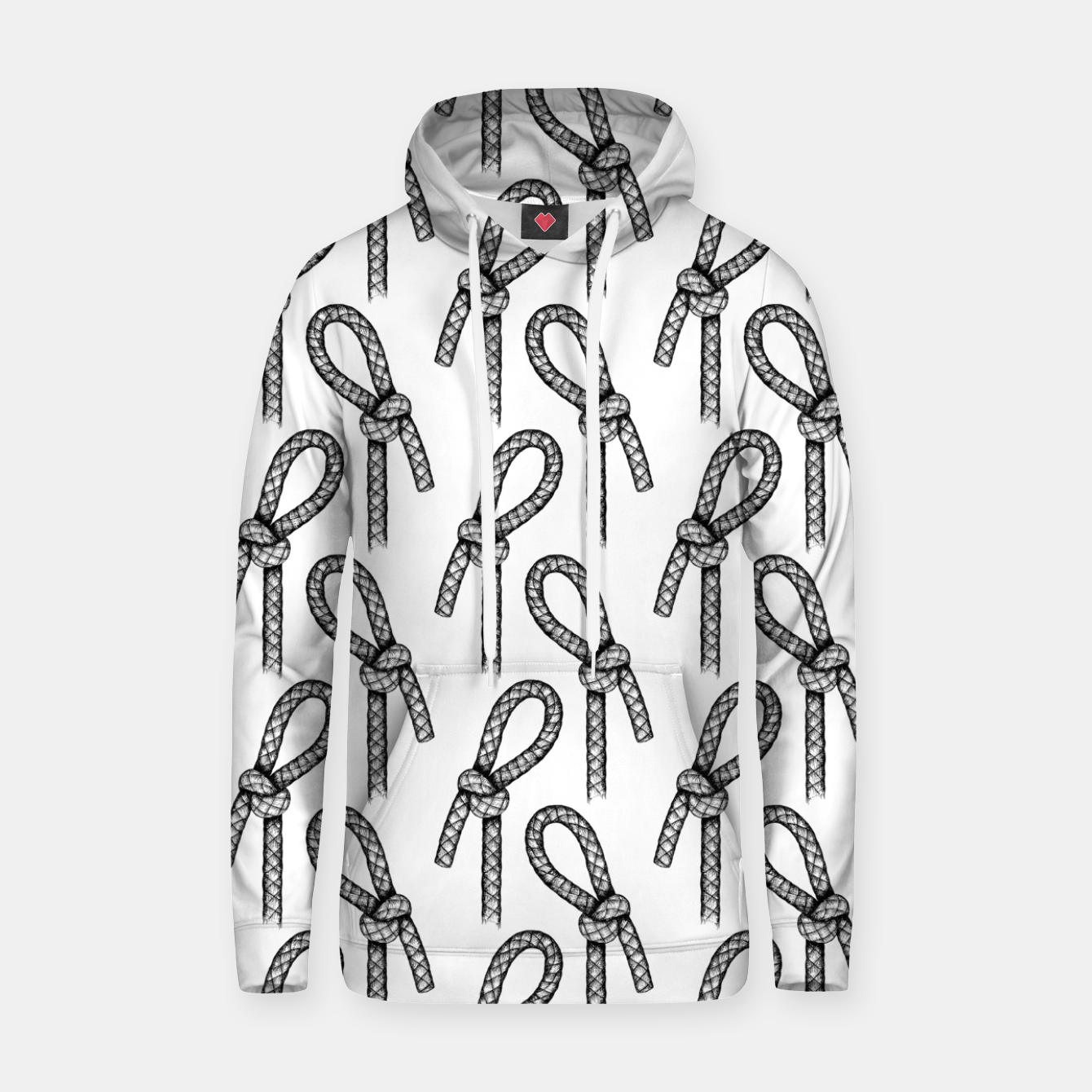Image of Slipped Overhand Knot Pattern Hoodie - Live Heroes