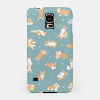 Corgi Day After Night Party With Fairies Samsung Case thumbnail image