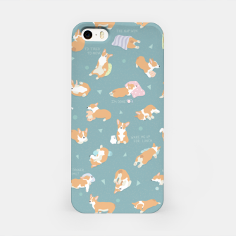 Corgi Day After Night Party With Fairies iPhone Case thumbnail image