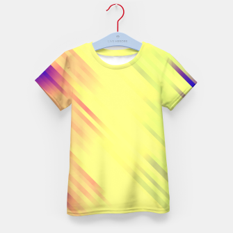 stripes wave pattern 7v1 bry Kid's t-shirt thumbnail image