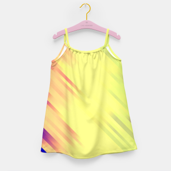 stripes wave pattern 7v1 bry Girl's dress thumbnail image