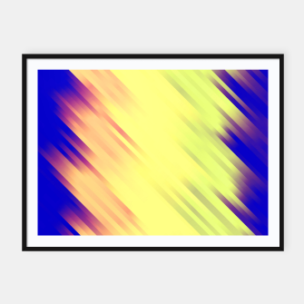 stripes wave pattern 7v1 bry Framed poster thumbnail image