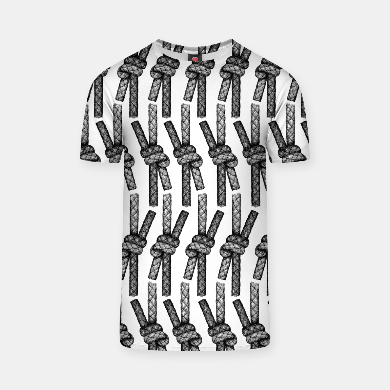 Image of Fisherman's Knot Pattern T-shirt - Live Heroes