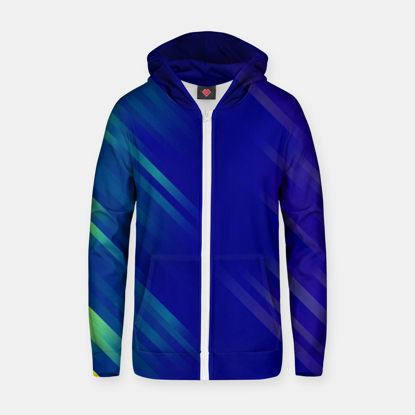 Image of stripes wave pattern 7v1 bryi Zip up hoodie - Live Heroes
