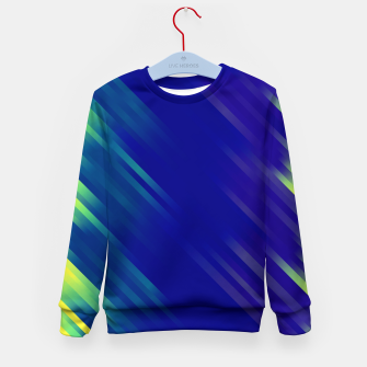 stripes wave pattern 7v1 bryi Kid's sweater thumbnail image
