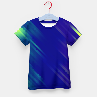 stripes wave pattern 7v1 bryi Kid's t-shirt thumbnail image
