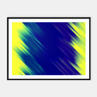 stripes wave pattern 7v1 bryi Framed poster thumbnail image