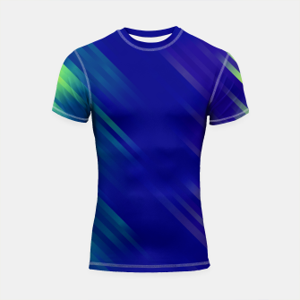 stripes wave pattern 7v1 bryi Shortsleeve rashguard thumbnail image